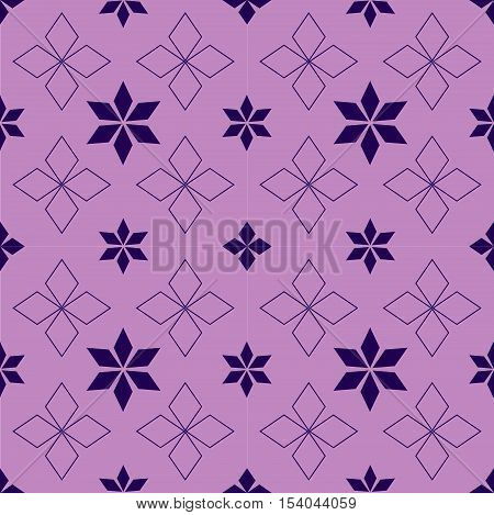 Abstract snowflakes and stars on a pink background Ethnic Scandinavian pattern Ethnic Scandinavian pattern Scandinavian Nordic pattern Folk art, Winter theme Winter seamless pattern Christmas quilt.