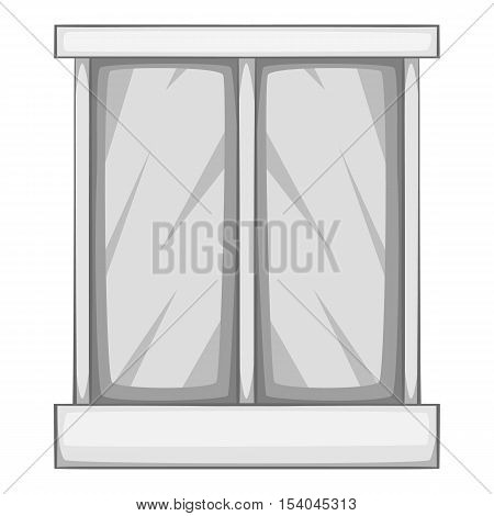 Storefront icon. Gray monochrome illustration of storefront vector icon for web design