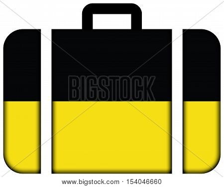 Flag Of Baden-wurttemberg, Germany. Suitcase Icon, Travel And Transportation Concept