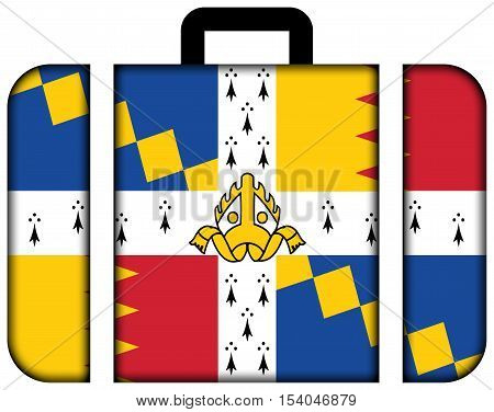 Flag Of Birmingham (the Birmingham Council Banner), England, Uk. Suitcase Icon, Travel And Transport