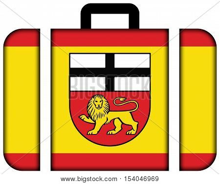 Flag Of Bonn, Germany. Suitcase Icon, Travel And Transportation Concept
