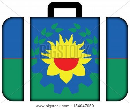 Flag Of Buenos Aires Province, Argentina. Suitcase Icon, Travel And Transportation Concept