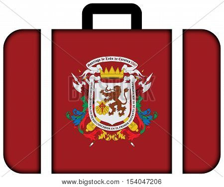 Flag Of Caracas, Venezuela. Suitcase Icon, Travel And Transportation Concept