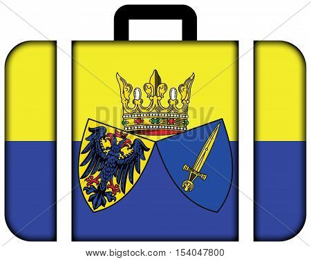 Flag Of Essen, Germany. Suitcase Icon, Travel And Transportation Concept