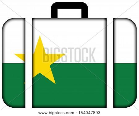 Flag Of Forsyth County, North Carolina, Usa. Suitcase Icon, Travel And Transportation Concept