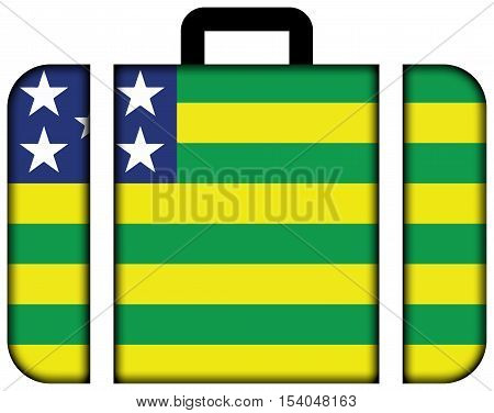 Flag Of Goias State, Brazil. Suitcase Icon, Travel And Transportation Concept