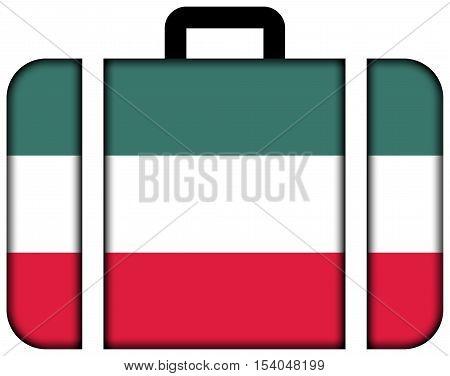 Flag Of Gorzow Wielkopolski, Poland. Suitcase Icon, Travel And Transportation Concept