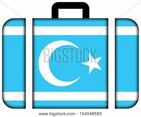 Flag Of Iraqi Turkmen Front. Suitcase Icon, Travel And Transportation Concept