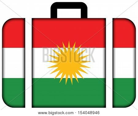Flag Of Kurdistan. Suitcase Icon, Travel And Transportation Concept