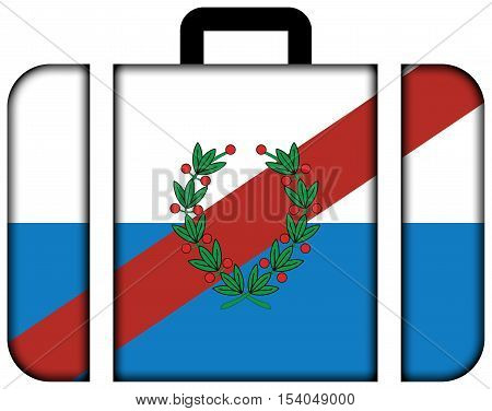 Flag Of La Rioja Province, Argentina. Suitcase Icon, Travel And Transportation Concept