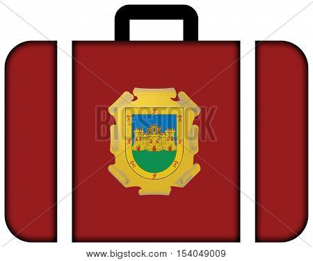 Flag Of La Serena, Chile. Suitcase Icon, Travel And Transportation Concept