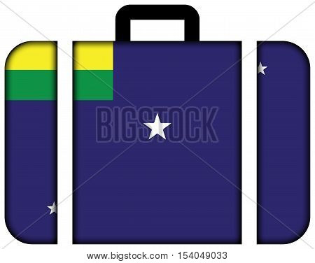 Flag Of Lages, Santa Catarina State, Brazil. Suitcase Icon, Travel And Transportation Concept