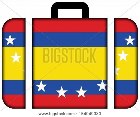 Flag Of Loja Province, Ecuador. Suitcase Icon, Travel And Transportation Concept