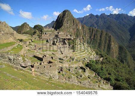 Scenic view of Macchu Picchu, Peru, South America
