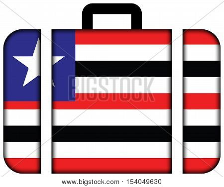 Flag Of Maranhao State, Brazil. Suitcase Icon, Travel And Transportation Concept