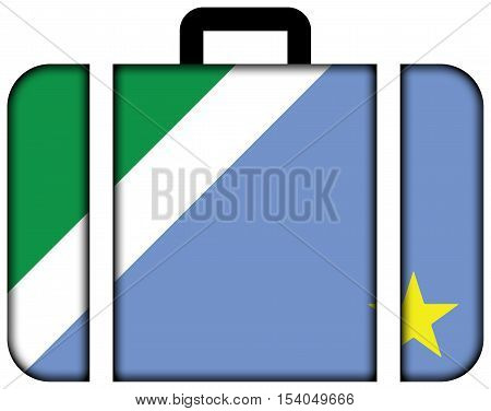 Flag Of Mato Grosso Do Sul State, Brazil. Suitcase Icon, Travel And Transportation Concept