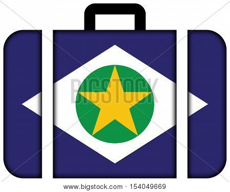 Flag Of Mato Grosso State, Brazil. Suitcase Icon, Travel And Transportation Concept