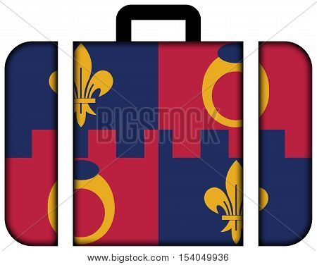 Flag Of Montgomery County, Maryland, Usa. Suitcase Icon, Travel And Transportation Concept