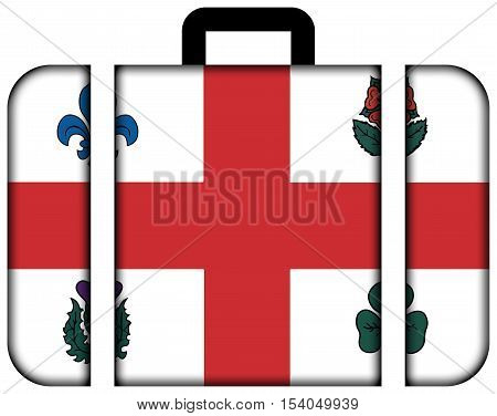 Flag Of Montreal, Canada. Suitcase Icon, Travel And Transportation Concept
