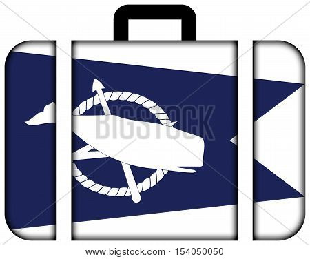 Flag Of Nantucket, Massachusetts, Usa. Suitcase Icon, Travel And Transportation Concept