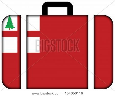 Flag Of New England, Usa. Suitcase Icon, Travel And Transportation Concept