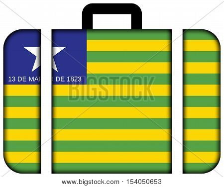 Flag Of Piaui State, Brazil. Suitcase Icon, Travel And Transportation Concept