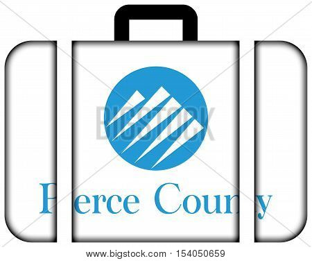 Flag Of Pierce County, Washington, Usa. Suitcase Icon, Travel And Transportation Concept