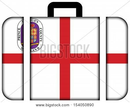 Flag Of Prince George's County, Maryland, Usa. Suitcase Icon, Travel And Transportation Concept