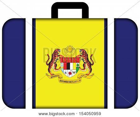 Flag Of Putrajaya, Malaysia. Suitcase Icon, Travel And Transportation Concept