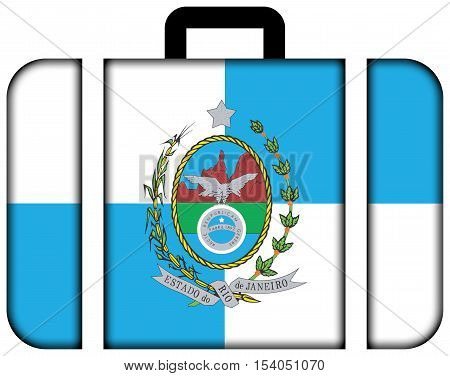Flag Of Rio De Janeiro State, Brazil. Suitcase Icon, Travel And Transportation Concept