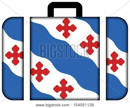 Flag Of Rockville, Maryland, Usa. Suitcase Icon, Travel And Transportation Concept