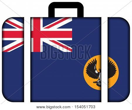 Flag Of South Australia State, Australia. Suitcase Icon, Travel And Transportation Concept