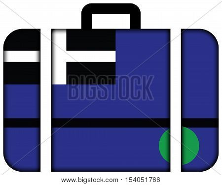Flag Of Tangier Island, Virginia, Usa. Suitcase Icon, Travel And Transportation Concept