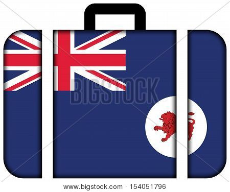 Flag Of Tasmania State, Australia. Suitcase Icon, Travel And Transportation Concept