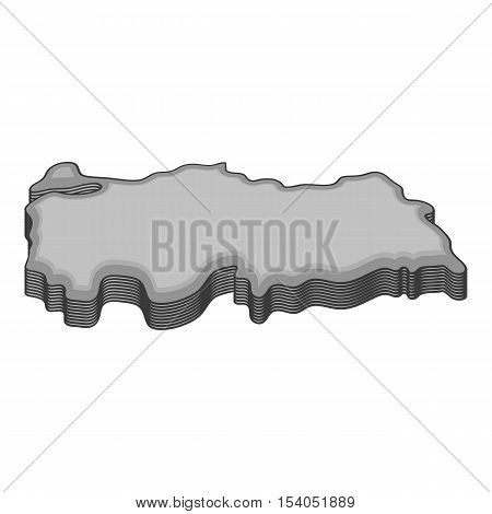 Turkey map icon. Gray monochrome illustration of turkey map vector icon for web design