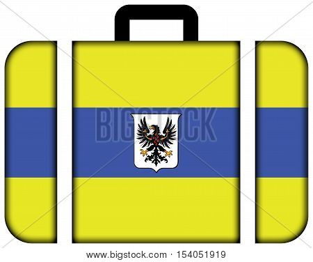 Flag Of Trento With Coat Of Arms, Italy. Suitcase Icon, Travel And Transportation Concept