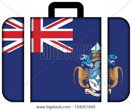 Flag Of Tristan Da Cunha (part Of Saint Helena, Ascension And Tristan Da Cunha). Suitcase Icon, Trav