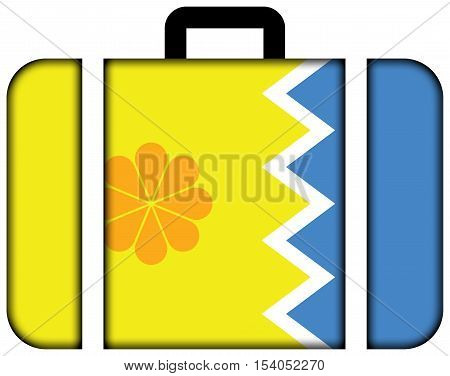 Flag Of Vina Del Mar, Chile. Suitcase Icon, Travel And Transportation Concept