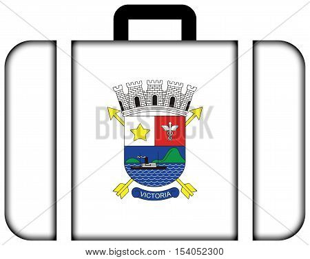 Flag Of Vitoria, Espirito Santo, Brazil. Suitcase Icon, Travel And Transportation Concept