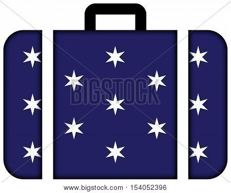 Flag Of Washington, New York State, Usa. Suitcase Icon, Travel And Transportation Concept