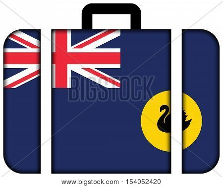 Flag Of Western Australia State, Australia. Suitcase Icon, Travel And Transportation Concept