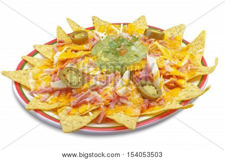 Nachos with cheese, Mexican nachos with local products canaries photographed in Tenerife Spain