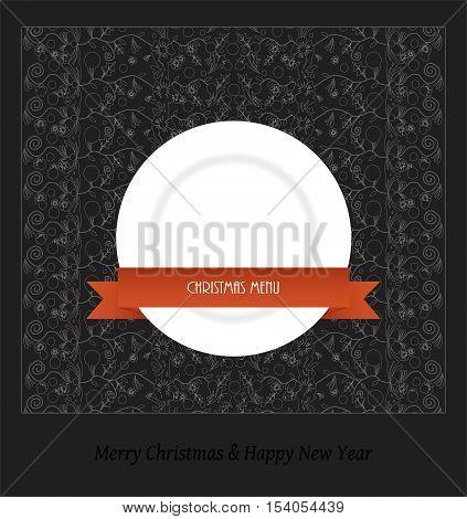 Christmas menu - vector illustration on black background