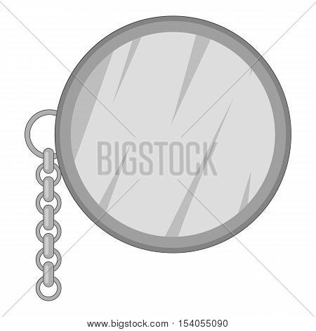 Monocle icon. Gray monochrome illustration of monocle vector icon for web design