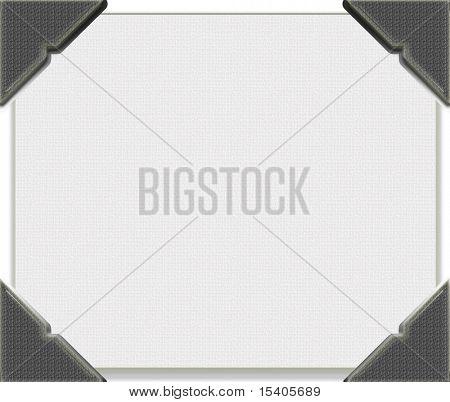 Photo corners on blank paper