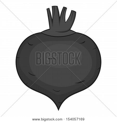 Beetroot icon. Gray monochrome illustration of beetroot vector icon for web design
