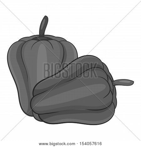 Paprika icon. Gray monochrome illustration of paprica vector icon for web design
