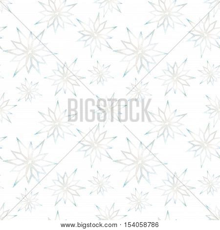 Snowflakes on a white background winter pattern Winter pattern abstract snowflake Background watercolor snowflakes Snowflakes seamless background watercolor Winter background seamless pattern