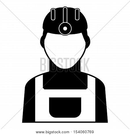 Miner icon. Simple illustration of miner vector icon for web