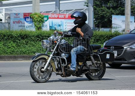 CHIANGMAI THAILAND - OCTOBER 9 2016: Private Motorcycle Harley-Davidson. Photo at road no.121 about 8 km from downtown Chiangmai thailand.
